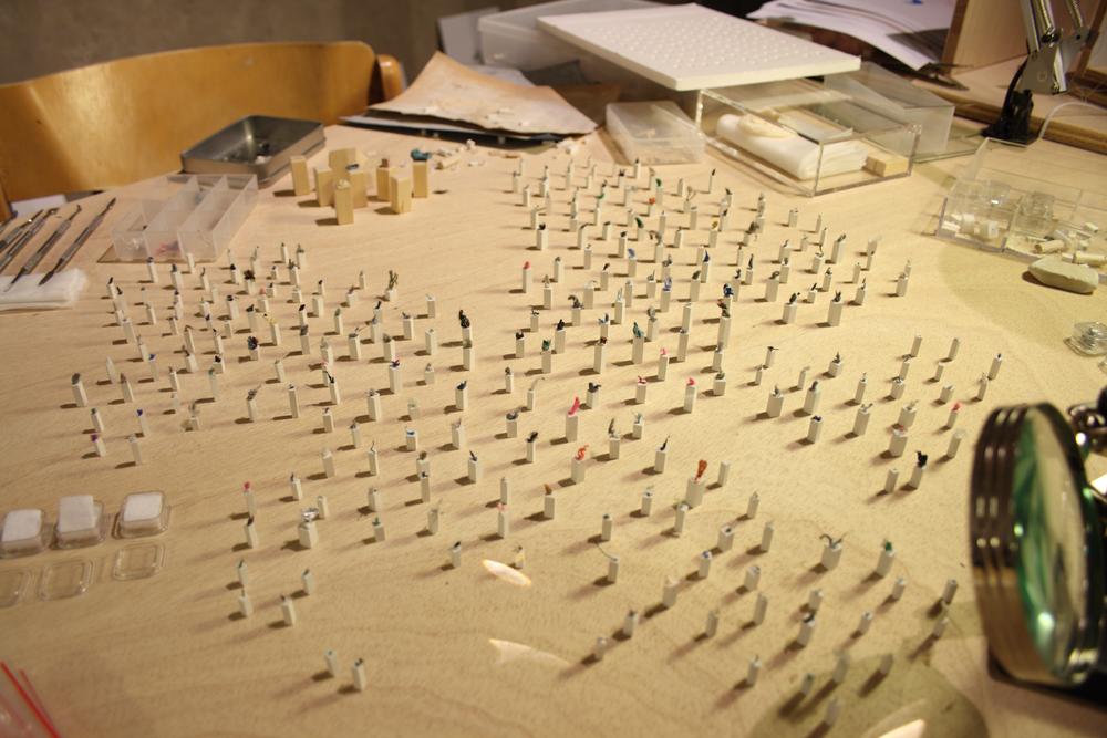 "Installation ""Sculptures de poches"""