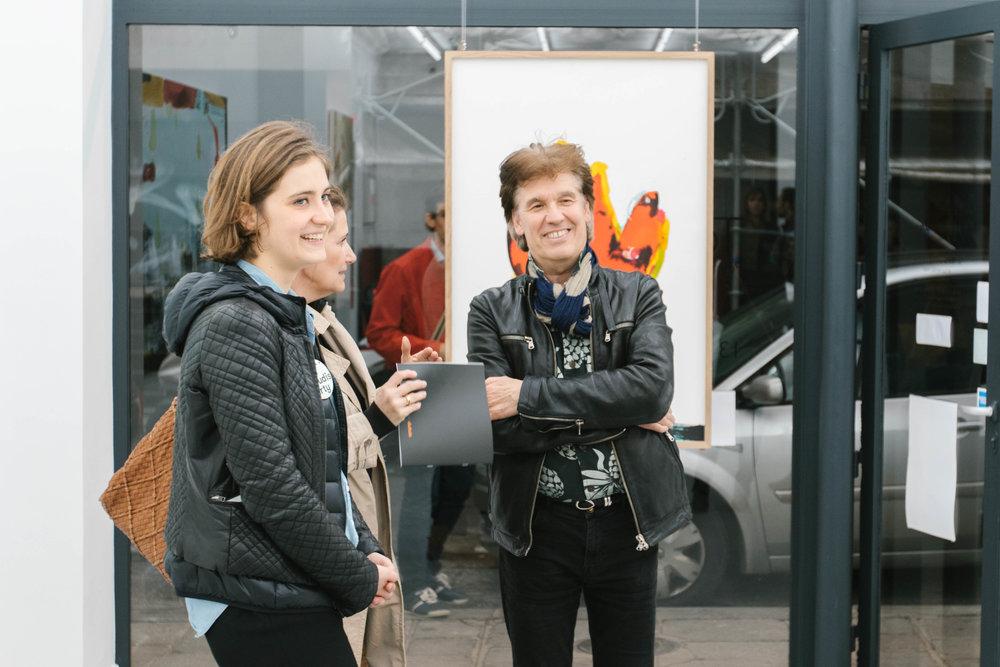 Tony Soulié et notre ambassadrice Mathilde à la galerie Gilbert Dufois ©gaelle matata.jpg