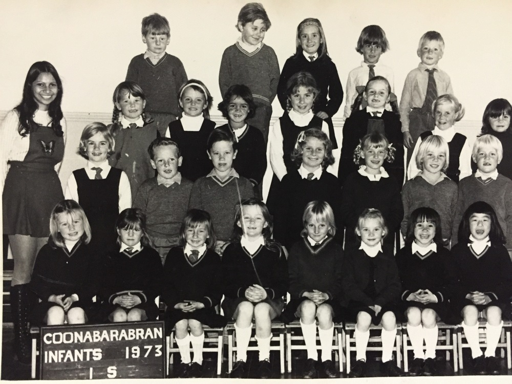 Actually, I still think Miss Siebel looks absolutely stunning in this photo. I, on the other hand, look like Gretel from The Sound of Music (second row, third from the right).