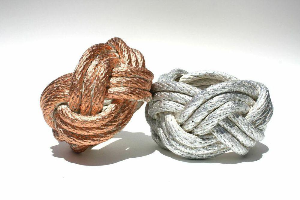 Metal Leafed Rope Knot Bracelet