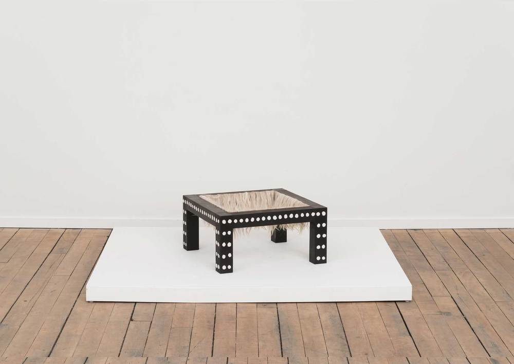 Soothe Table (Pacify) , 2015 Charred Poplar, Self Drying Clay, Alpaca
