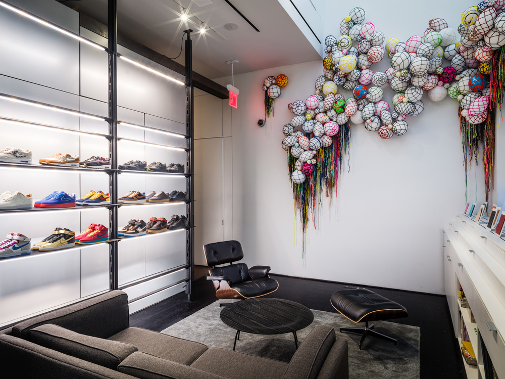 Balls to the Wall , 2015  Site specific installation commissioned for Nike Lab, New York.