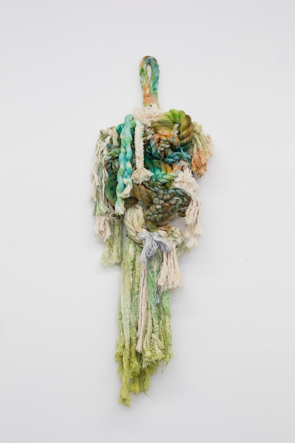 Untitled , 2015    Natural and hand-dyed rope    39 x 14 x 5 in