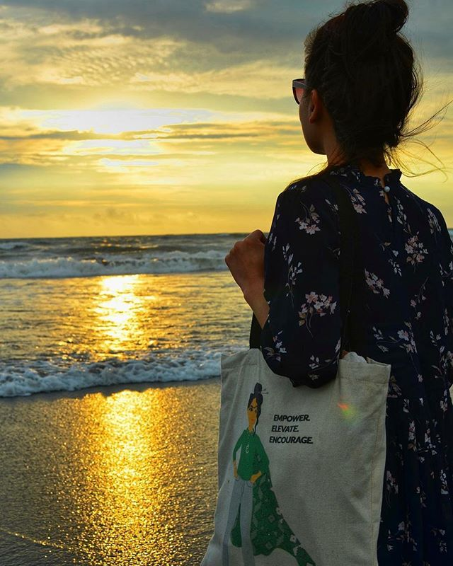 "Have you gotten our superwoman tote yet? You can sport this bag with pride, as each purchase supports female artisans and children's education in Nepal. It also sends a message that embodies our mission: ""empower, elevate, encourage."" Order now at haushala.com 😊💪✨ . . . #haushala #haushalacreatives #etsy #handmade #ethicalfashion #styleblog #socialimpact #nepal #tote #canvastote #haushalamascot"