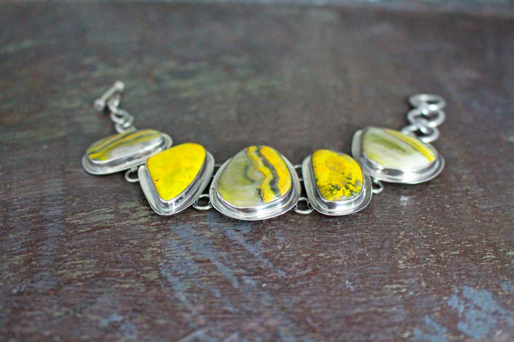 Bumblebee jasper bracelet