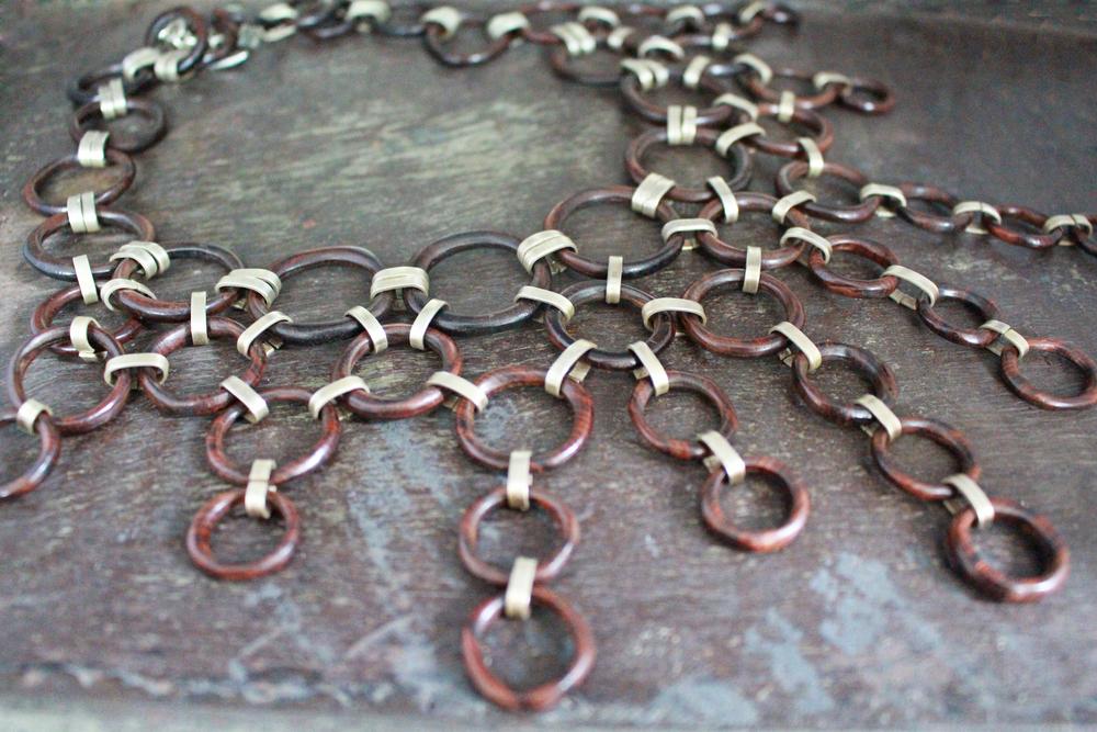 Iron wood necklace