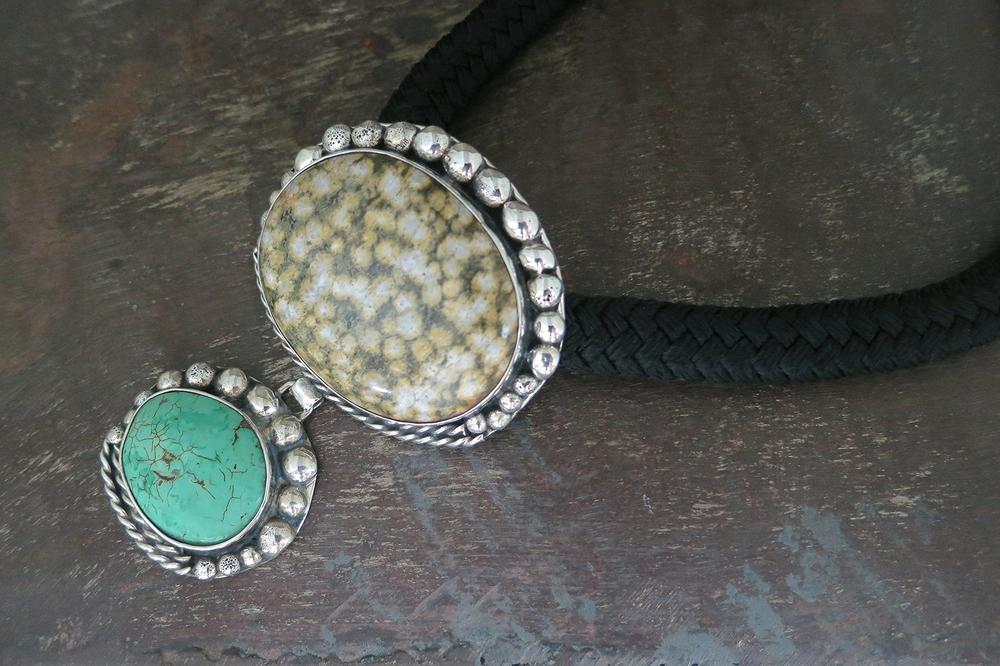 Jasper & turquoise pendant