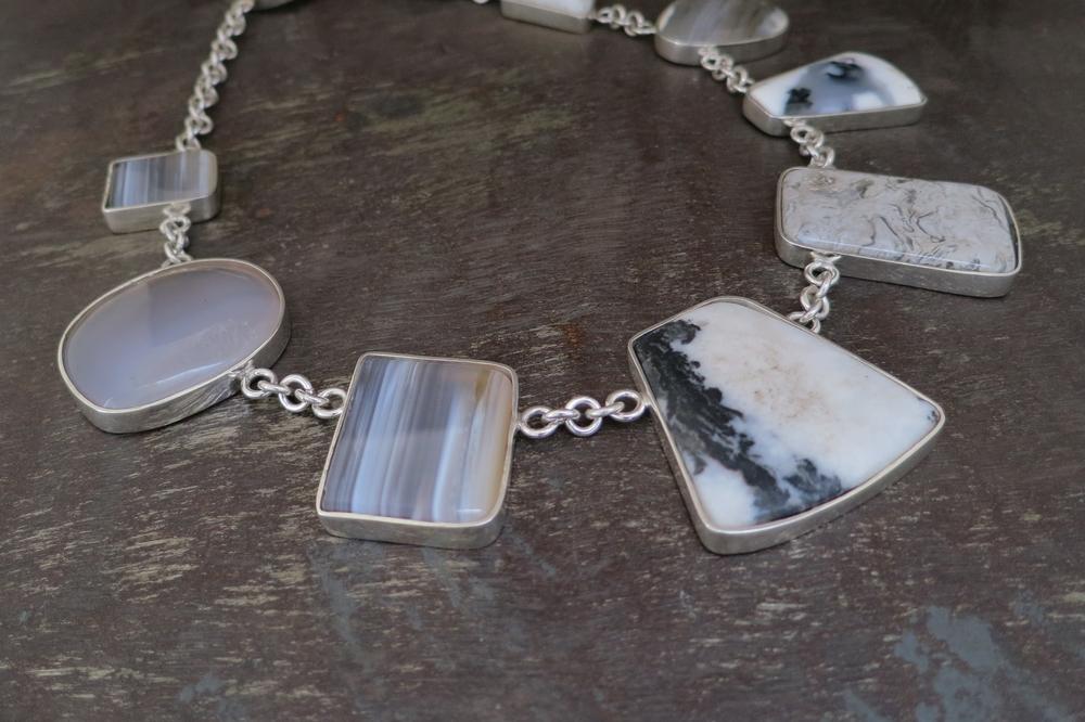 Agate & jasper necklace