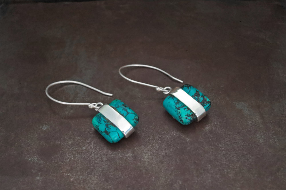 Dyed Howlite earrings