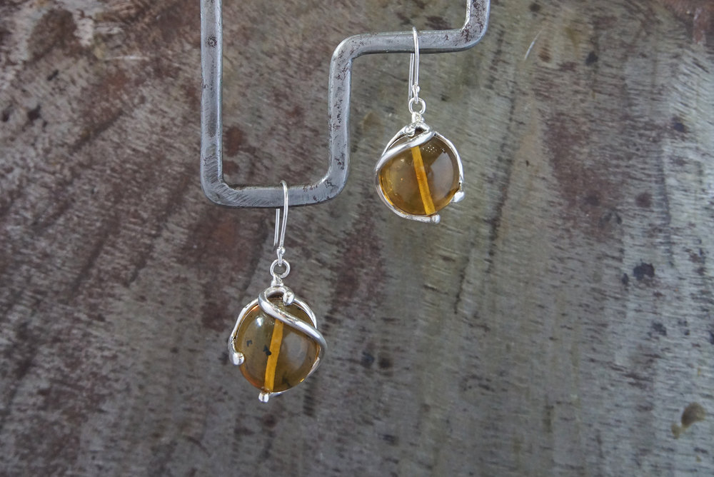 Chiapas amber earrings