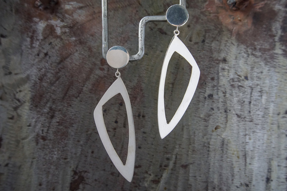 sterling silver post earrings