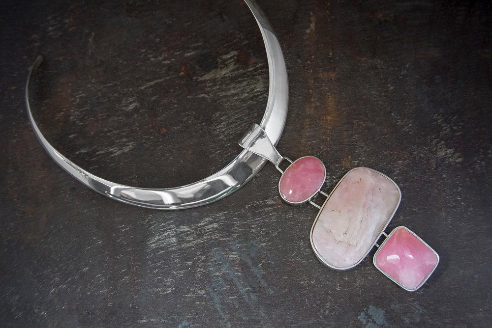 pink quartz & pink opal enhancers