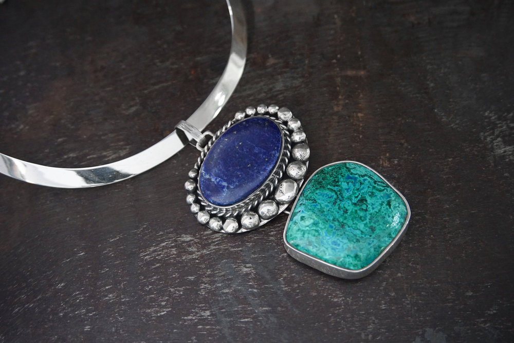 lapis lazuli & chrysocolla enhancers