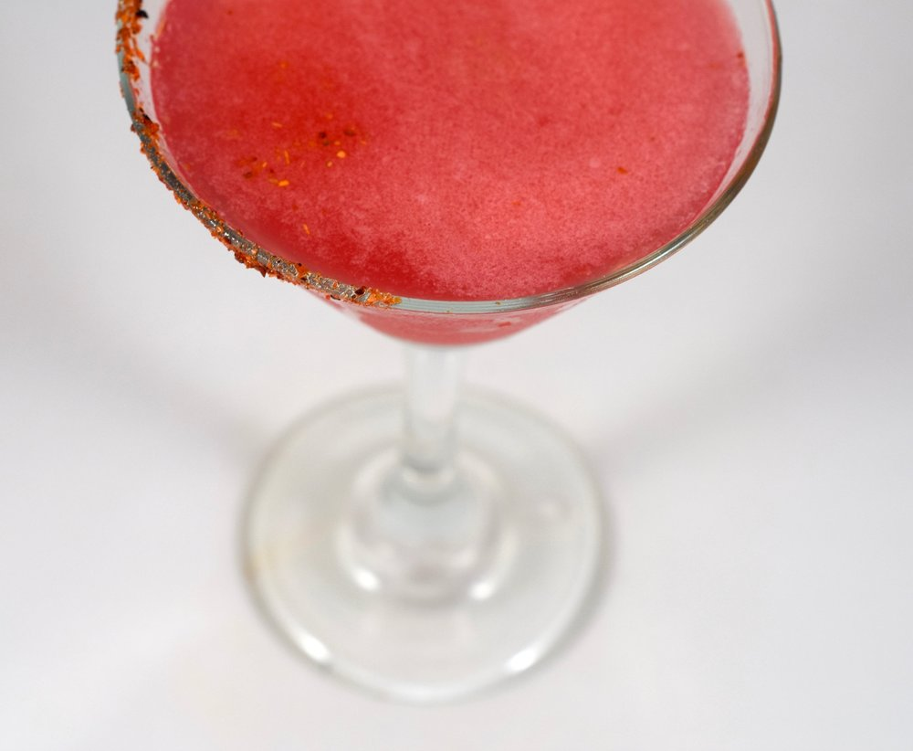 ALMA ROSA - 2 oz tequila or mezcal3/4 oz nostrum strawberry hibiscus jalapeno shrub3/4 oz fresh lime juice1 barspoon agave nectarShake with ice and strain.