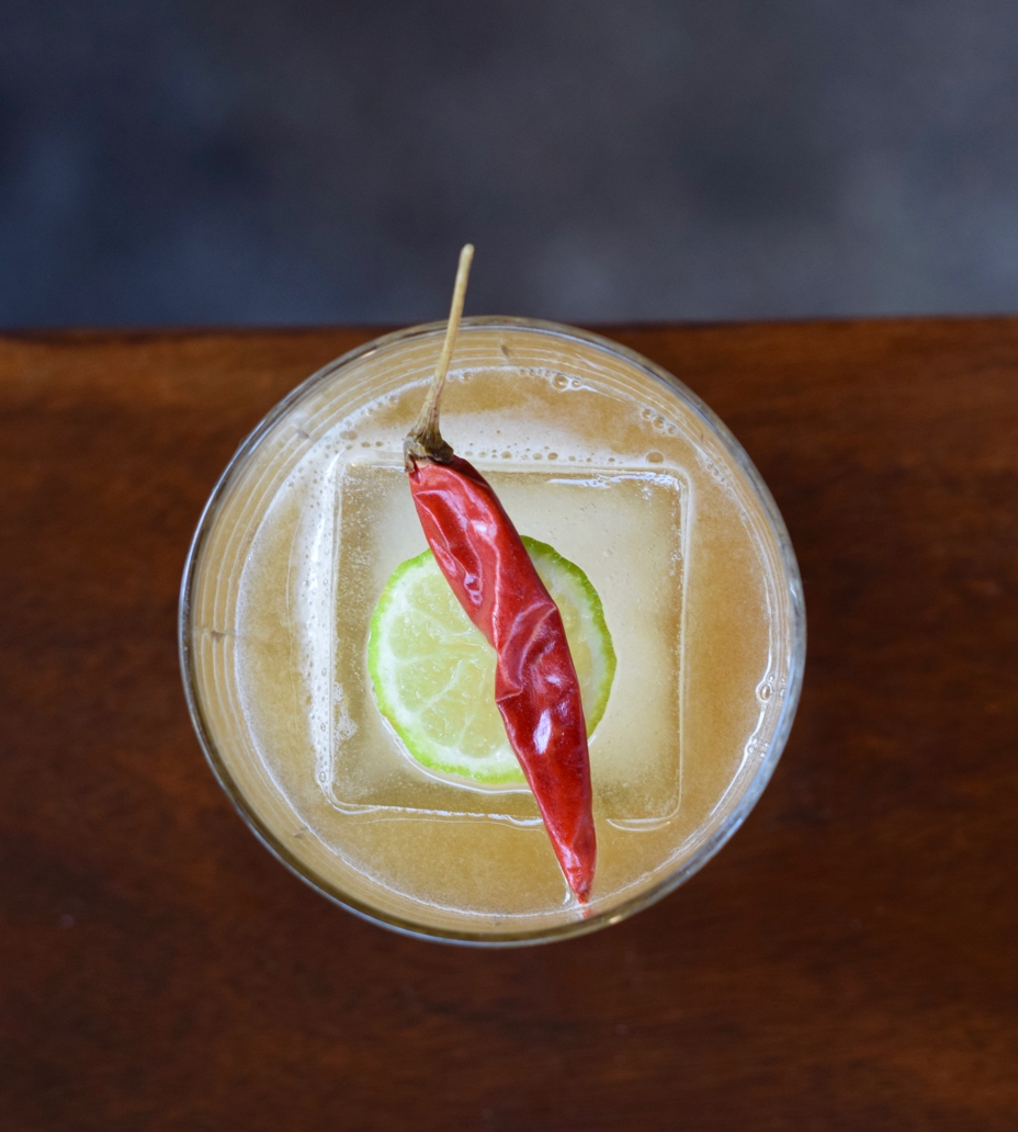 HOW THE WEST WAS JUAN - 2 oz bourbon1/2 oz nostrum grapefruit piloncillo chipotle shrub1/2 oz fresh lemon juice1/2 oz tamarind syrup2 dashes angostura bittersShake with ice and strain.