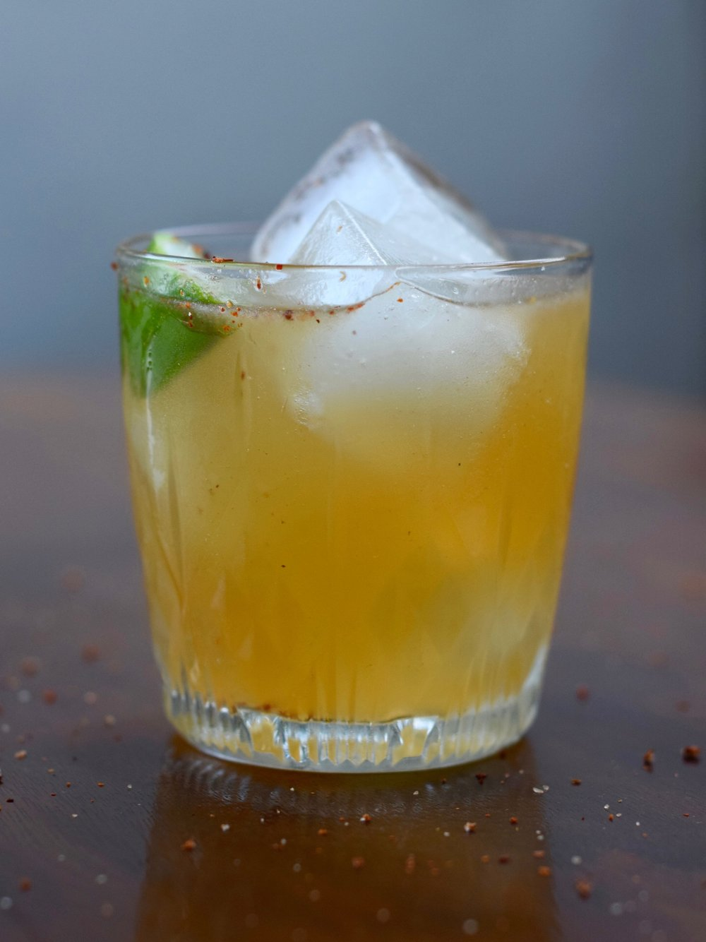DIRTY DOVE - 2 oz tequila or mezcal1/2 oz nostrum grapefruit piloncillo chipotle shrub1/2 oz fresh lime juice3 oz ginger beerBuild over ice.