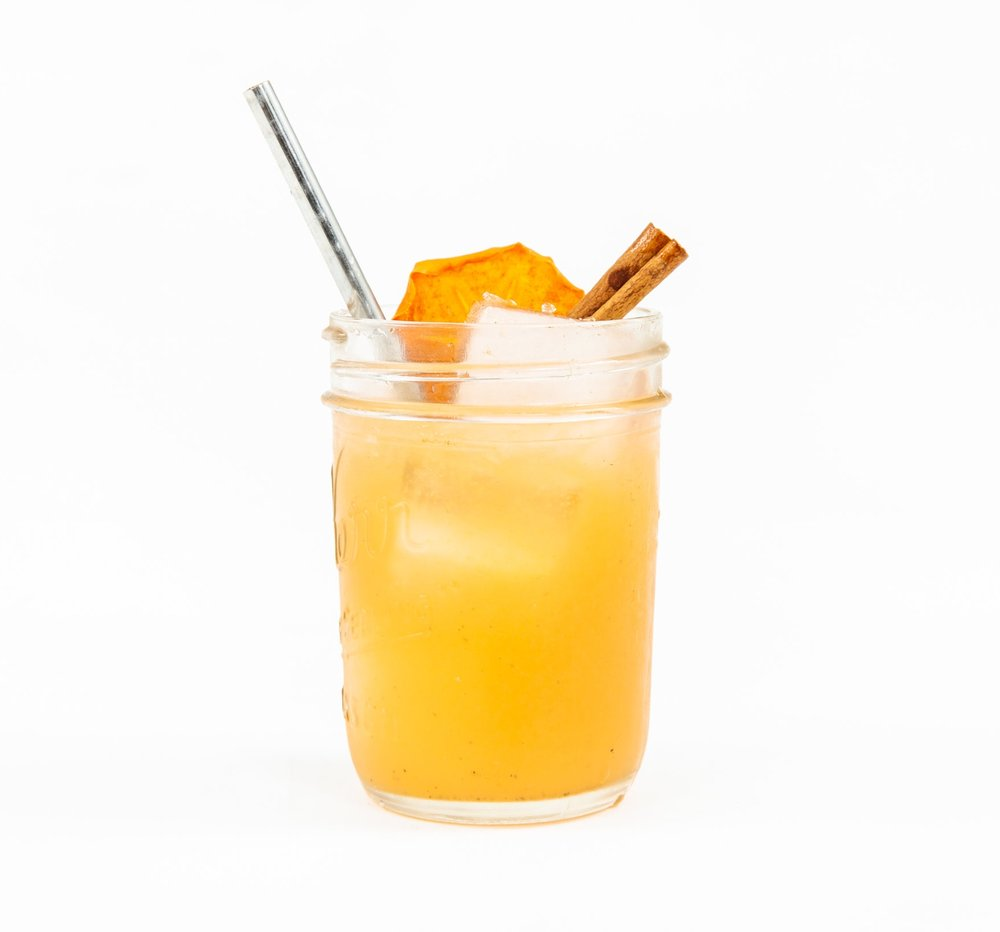 TWO FOR TEA - 1 oz nostrum persimmon oolong tea ginger shrub1 oz fresh orange juice1 oz fresh lemon juice1/2 oz honey syrup2 dashes angostura bitters (optional)directions: shake with ice and strain.