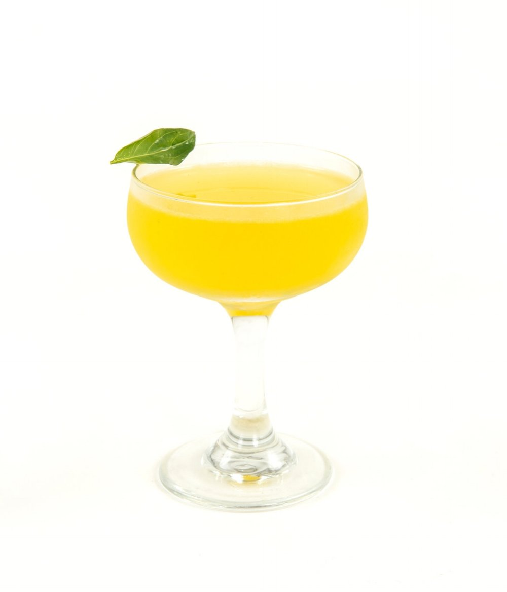 SOUTH SEA GIMLET - 2 oz gin1/2 oz nostrum pineapple turmeric ginger shrub3/4 oz fresh lime juice1/2 oz simple syrupthai basil leaves (or substitute mint)directions: shake with ice and strain.