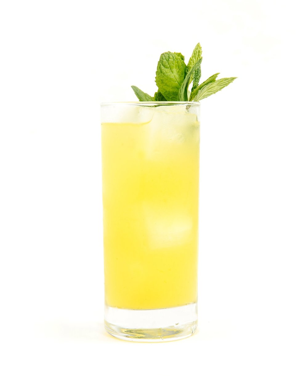 SPRING FLING - 2 oz gin or vodka1/2 oz nostrum pineapple turmeric ginger shrub1/2 oz fresh lime juice2-4 oz tonic waterdirections: build over ice and top with tonic.
