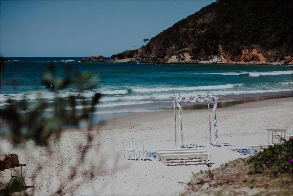 Broken Head beach wedding