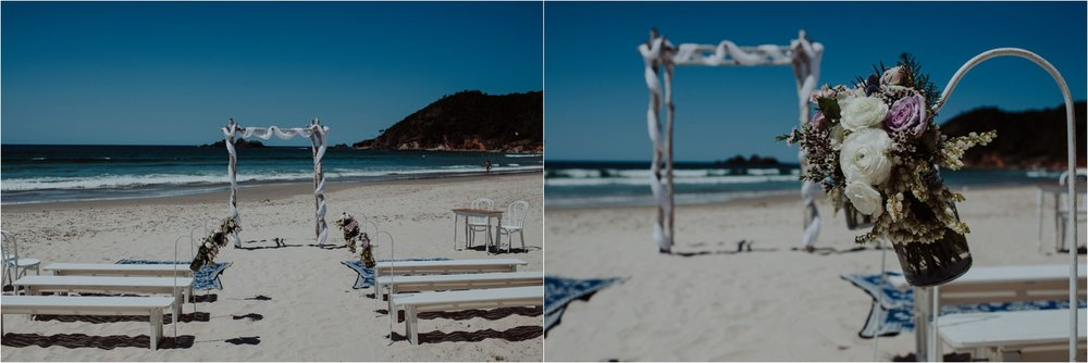 Broken Head beach wedding styling