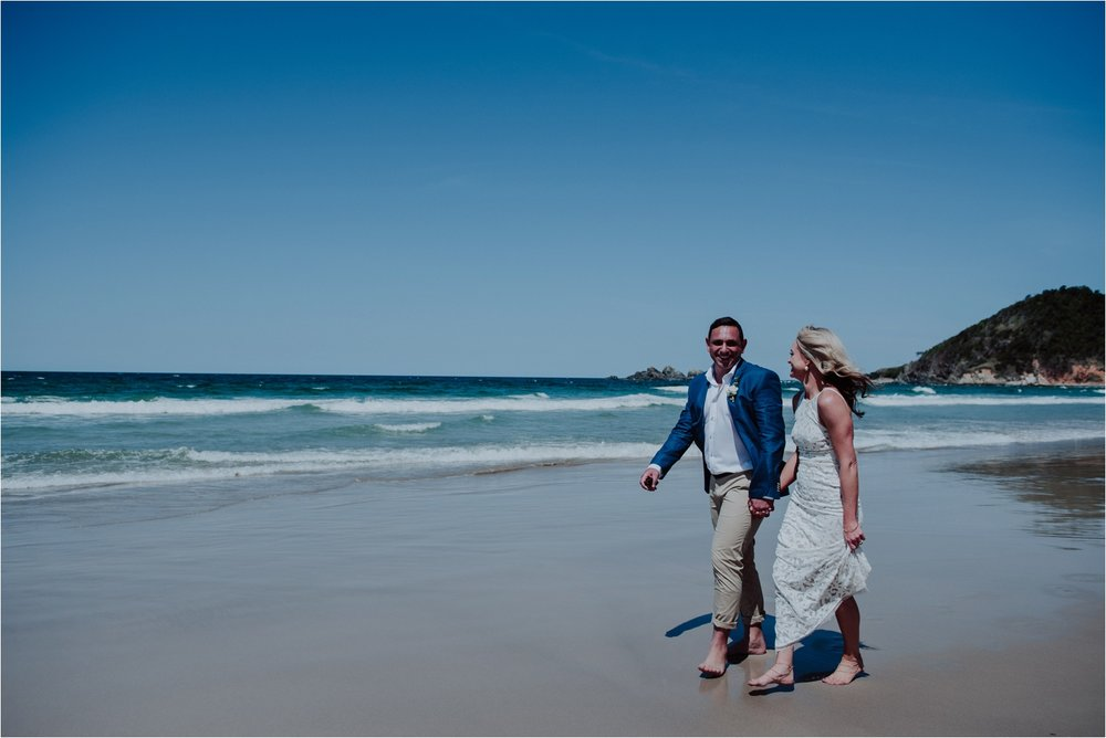Natural beach wedding photographer