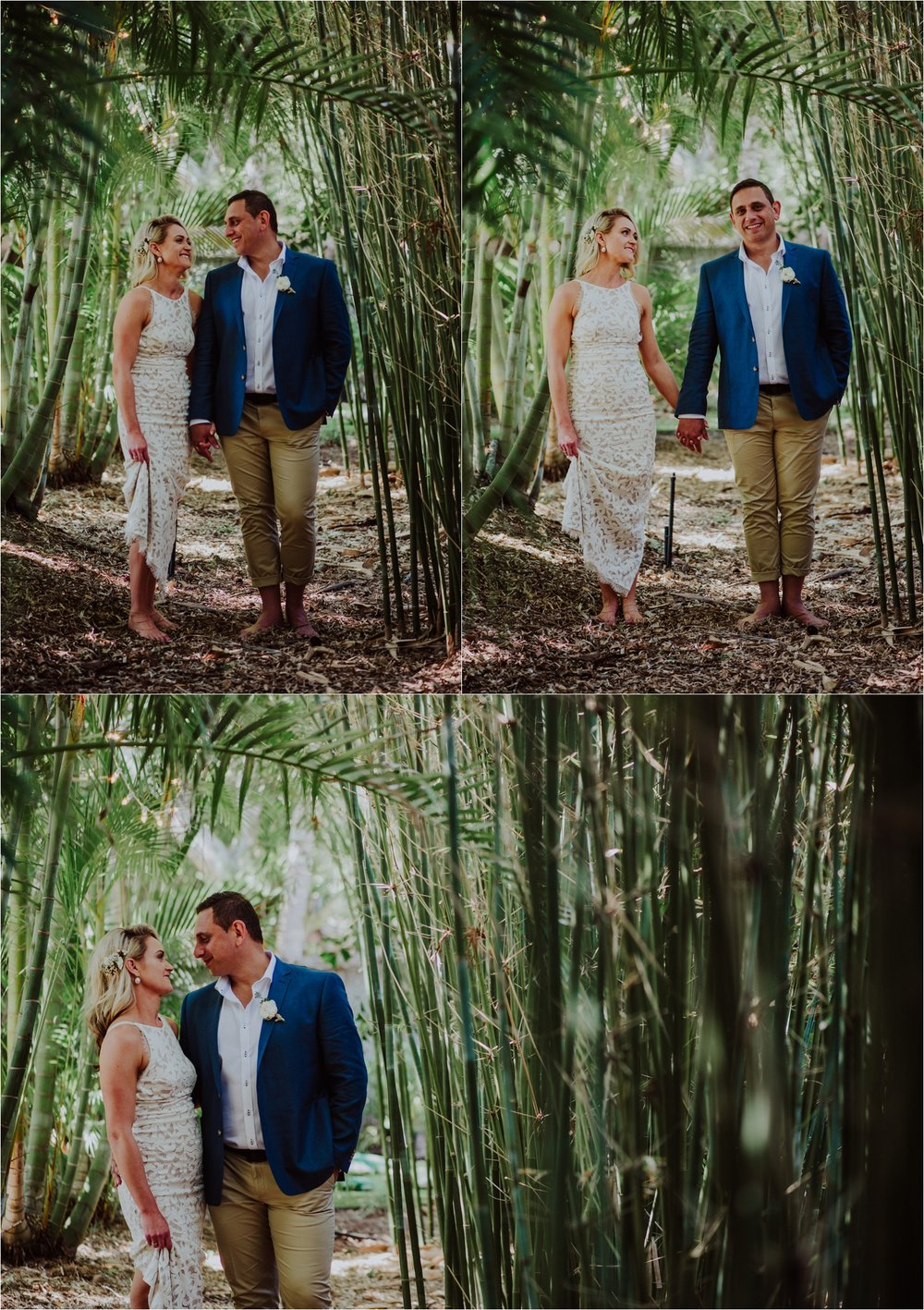 Bamboo wedding portraits