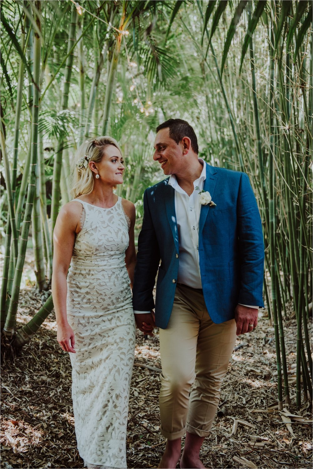 Candid bridal session by byron bay wedding photographer