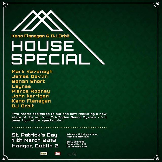 We welcome House Special this Paddy's day! Doors @ 10pm 🐍