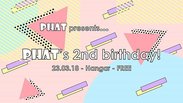 Phat turn 2 and it's FREE in, what more could you want?  Head to our event page on FB to add your names to the list.