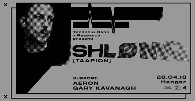 Techno announcement 💣💣 SHLØMO headlines our warehouse April 28th.