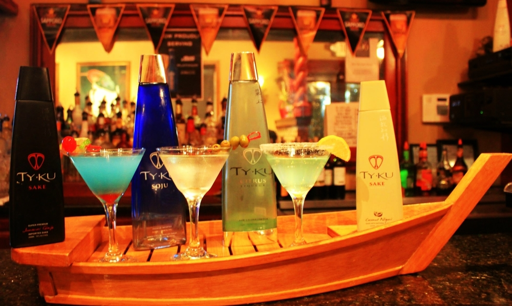 TY KU premium sake at Indo Thai
