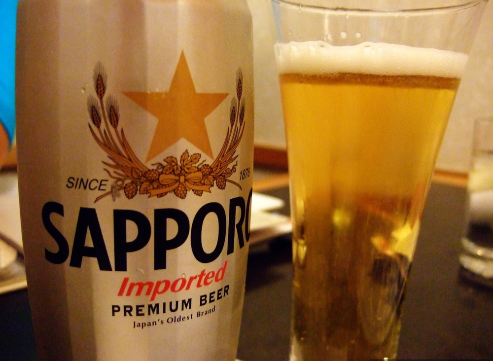 Sapporo Japanese beer at Indo Thai