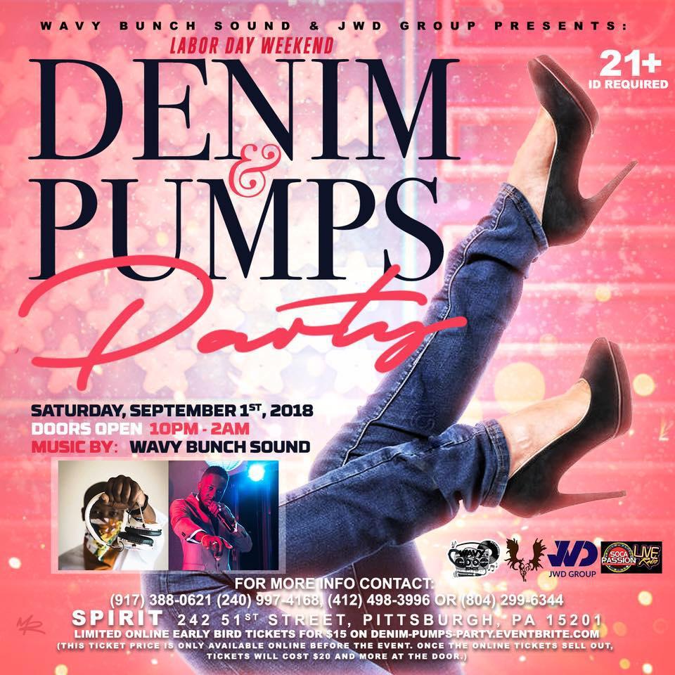 Hall: Wavy Bunch Sound Labor Day Weekend Denim & Pumps Party