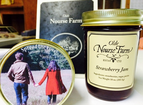 customized jam wedding favors telephone orders only nourse farm