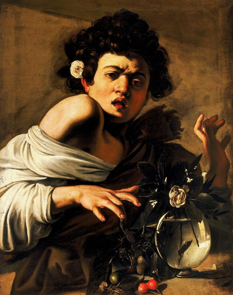 Boy Bitten by a Lizard, Caravaggio, 1593-1594