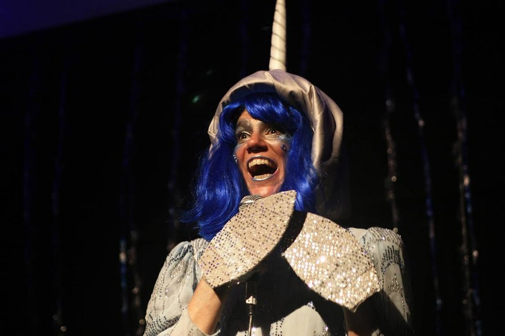 LadyFest's Narnie the Narwhal. Photo credit:  Kathy Slamen.