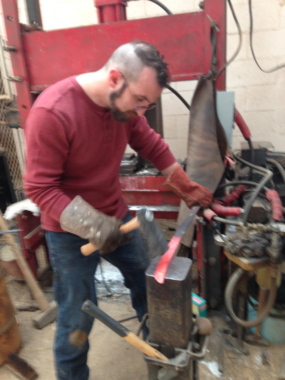 Forging out a blade
