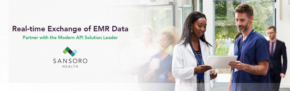 Real-time Exchange of EMR Data Partner with SANSORO HEALTH,  the API Solution Leader for Modern Medicine