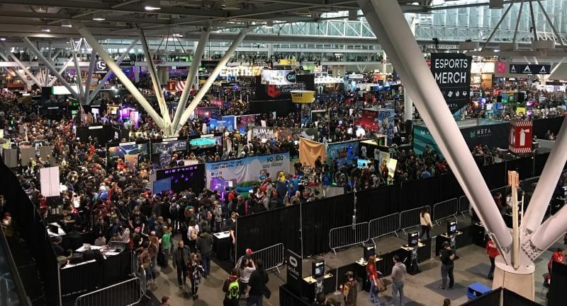 The Exposition Floor at PAX East 2017
