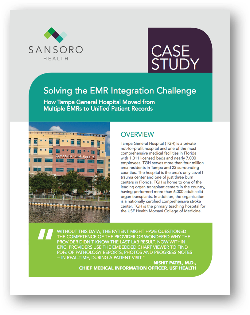 Solving the EMR Integration Challenge - A Sansoro Health Case Study
