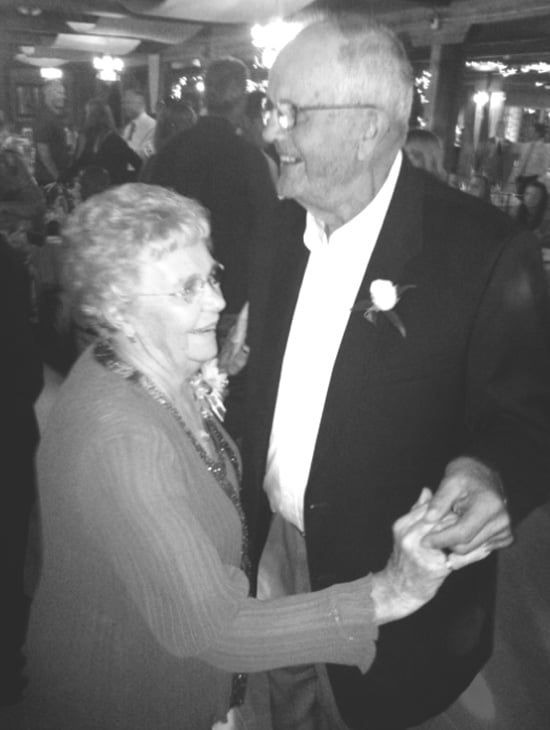The couple still dancing over 60 years later.
