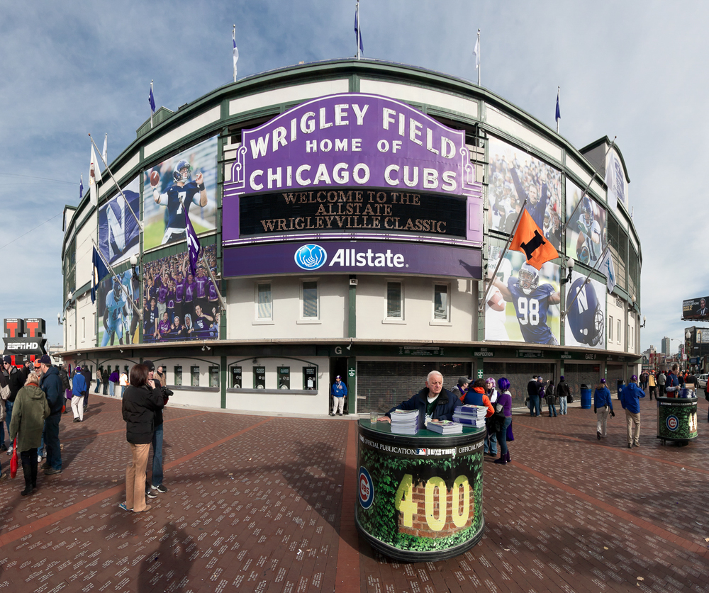 Gameday - Wrigley Field's Purple Marquee