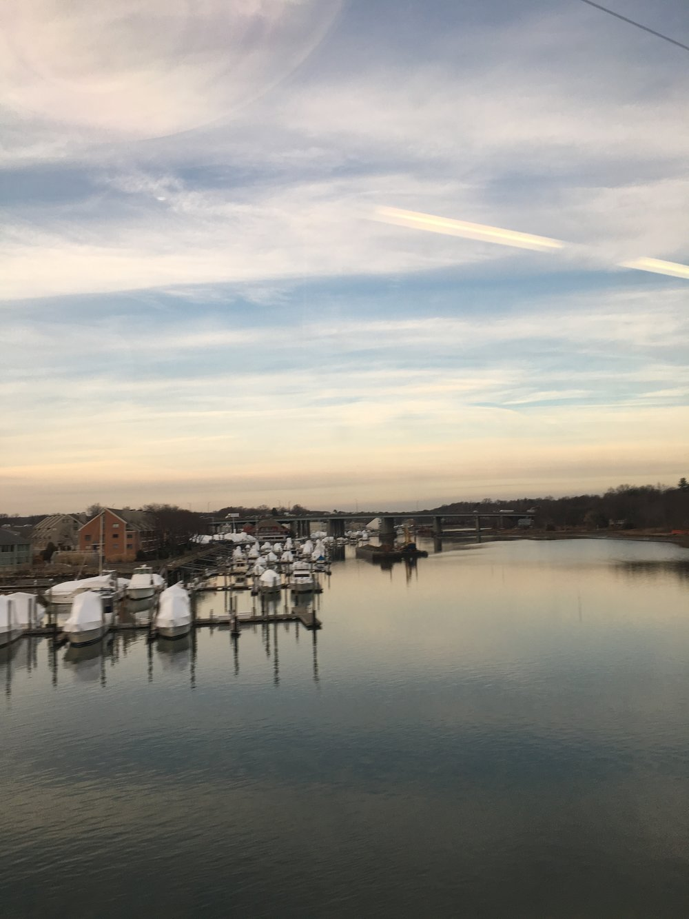 Cos Cob, view from my train...
