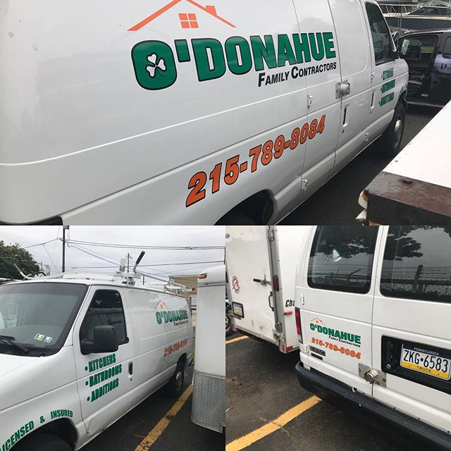 #dicedesign #design #vinyllettering #vinyleverything #odonahuecontractors #vanlettering  We can letter or wrap pretty much anything. Give us a call today. www.dicedesign215.com