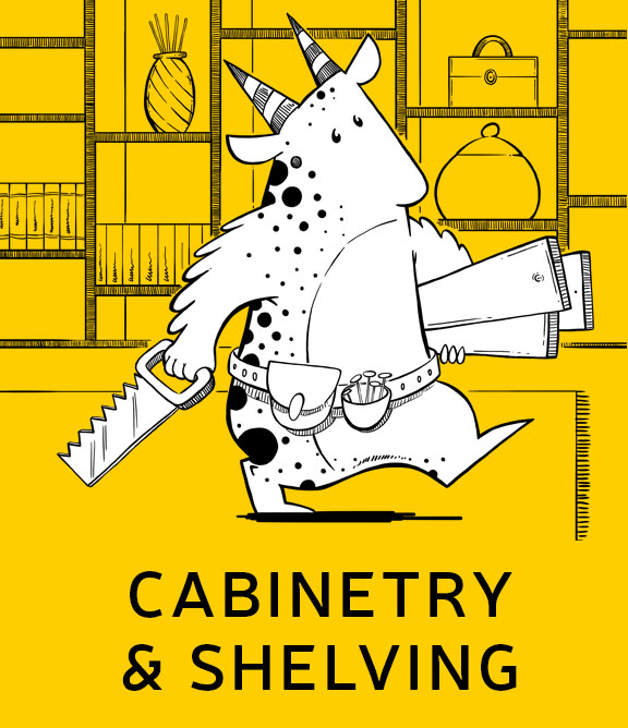 cabinetry and shelving