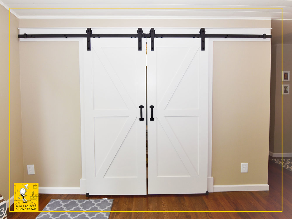 Barn doors installation