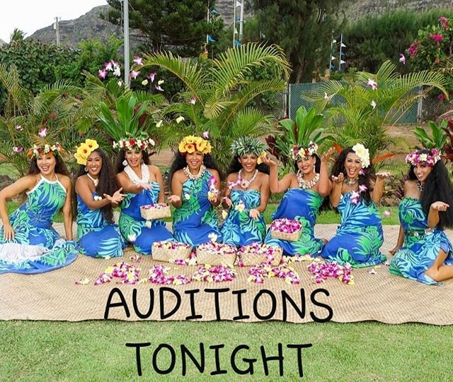 ⚠️AUDITIONS ⚠️• Come join our MALU cast! Looking for MALE & FEMALE Polynesian dancers!!!• • • WHEN: TONIGHT APRIL 22nd• • • WHERE: HALE KOA LUAU GARDENS• • •  TIME: 8:45pm Registration, 9:15pm Audition Start• • •  More info, please direct message!