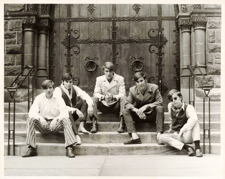 Left to right: Mike Meyers, Randy Linhart, Lloyd Stamy, Fritz Shiring, Tom Conlee
