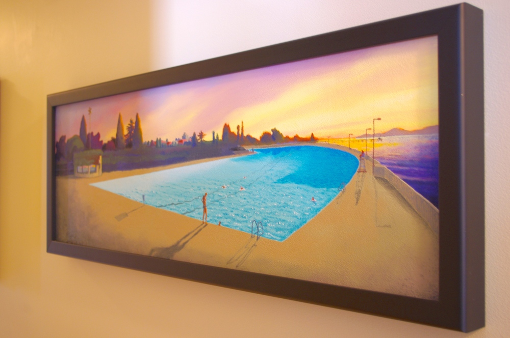 Original painting of Kits Pool